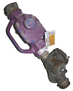Recycled water construction meters are purple and have special fittings for use on DSRSD's purple  recycled water hydrants only.