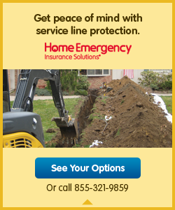 Optional Pipeline Protection from HomeServe Contact HomeServe at 855-321-9859 or http://srdserviceplans.com