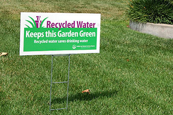 Recycled-water-lawn-sign
