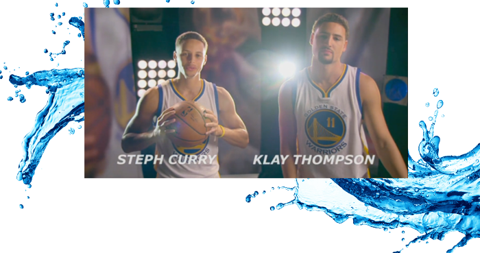 SplashBros, Warriors Curry & Thompson speak out on water conservation