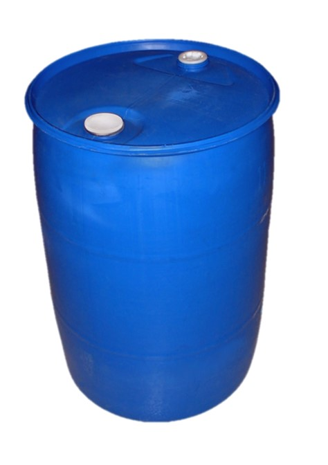 55-gallon water storage barrel