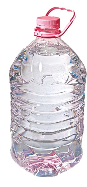 one-quart bottle of water